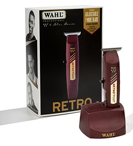 (Wahl Professional 5 Star Series Cordless Retro T-Cut Trimmer #8412 Great for Professional Stylists and Barbers 60 Minute Run Time)