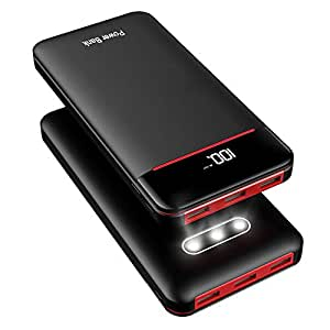 a31eeef23b28b Amazon.com: Power Bank 25000mAh Portable Charger Battery Pack with 3 ...