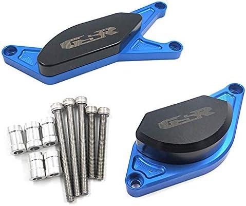 Moto Accessoires Ensemble complet de moteur Crash Pads Cadre Sliders protecteur for SUZUKI GSR400 GSR600 GSR 400 600 2006 2007 2008 2009 2010 2011 Color : Silver