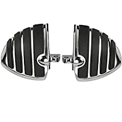 Fitment: To fit Most Harley Davidson models with male mount-style foot peg support Except 2010~2014 XL1200X,2011~2014 XL1200C,2012~2014 XL1200V Color: Chrome & Black Material: Heavy duty billet aluminum, Skid proof rubber Overall Size: ap...
