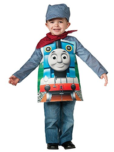 Rubies Thomas and Friends, Deluxe Thomas The Tank Engine and Engineer Costume, Toddler - Toddler One Color -