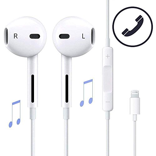 [1 Pack] Earbuds, Microphone Earphones Stereo Headphones Noise Isolating Headset Compatible with iPhone Xs/XS Max/XR/X/8/8 Plus/7/7 Plus Earphones