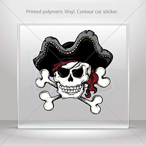 Decal Pirate Skull Car Door Hobbies Waterproof Racing Durable Racing M (16 X 15.1 Inches) (Tradition T-shirt Mascot)