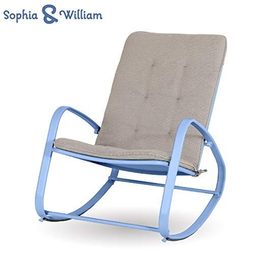 Bistro Swing Glider Chair Patio Rocking Chair Garden Furniture, Textilene Mesh Metal Steel Frame, Single Glider