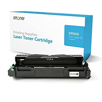 Attoner Compatible Drum Unit Replacement for Brother DR660 (Black), for Use In Brother HL-2380/2310/2360/630/2540/2700/2365/2355 Printers