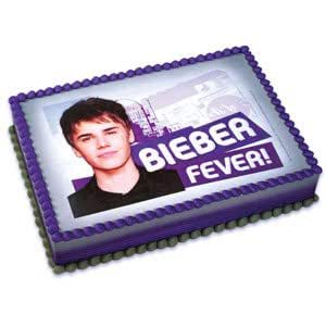 Justin Bieber Cake Topper Edible Party Image