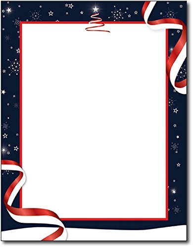 Patriotic Christmas Holiday Stationery - 80 (Holiday Computer Paper)