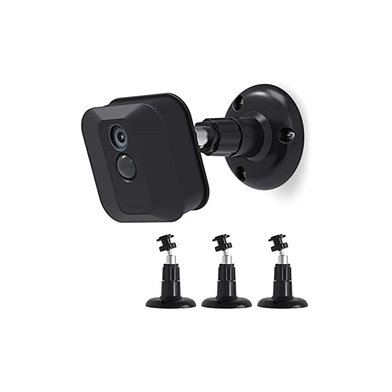Blink XT Camera Wall Mount Bracket, Blink Home Security Camera System Acceseries,Weather Proof 360 Degree Protective Adjustable Mount Blink Outdoor Camera (3 Pack, Black)