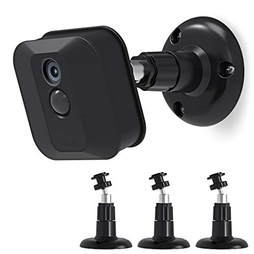 Mount Bracket, Blink Home Security Camera System Acceseries,Weather Proof 360 Degree Protective Adjustable Mount Blink Outdoor Camera (3 Pack, Black) ()