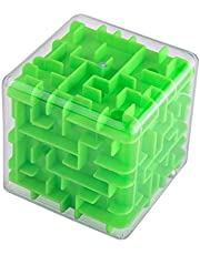 3D Maze Cube Transparent Beads Toys Three-Dimensional Labyrinth Ball Rotate The Rubik's Cube Children's Puzzle Intelligence Toys