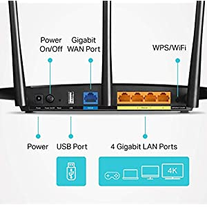 TP-Link AC1900 Smart WiFi Router - High Speed MU- MIMO Router, Dual Band, Gigabit, VPN Server, Beamforming, Smart…