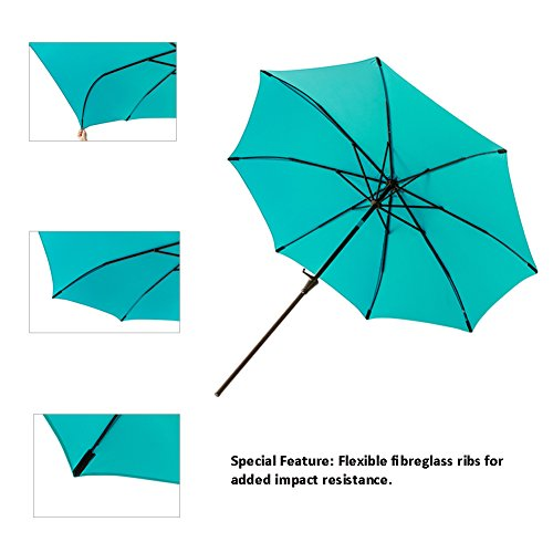 C Hopetree 11 Outdoor Market Umbrella With Aluminum Pole