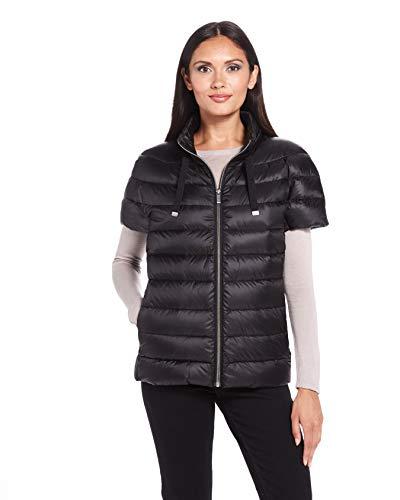 Martha Stewart's Womens Puffy Vest in Black - Down Vest Jacket for Women