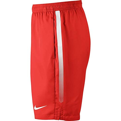 Nike Men's Court Dry 9'' Short (Habanero Red/White, Small) by Nike (Image #2)