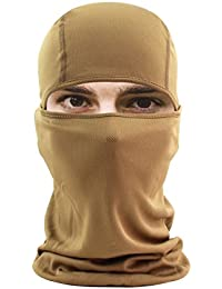 Balaclava Face Mask, HikeValley Adjustable Motorcycle Windproof UV Protection Breathable Unisex Hood Mask
