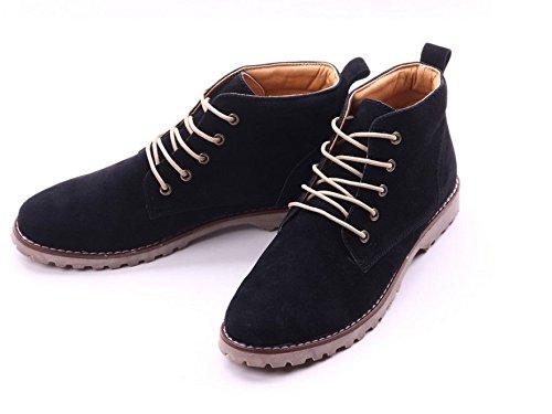 Gleader Nueva moda britanicos para hombre Casual de encaje gamuza Botines Mocasines Zapatillas de deporte Negro (Tamano:39) : Amazon.es: Zapatos y ...
