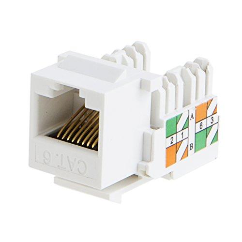 cablecreation 20 pack cat6   rj45 keystone module
