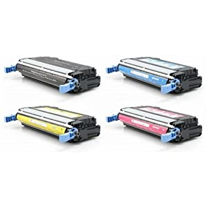 Calitoner Compatible Toner Cartridge Replacement for HP Q6460A ( Black,Cyan,Magenta,Yellow )