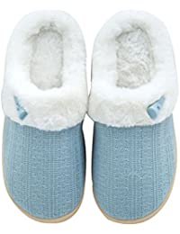 Women's Fuzzy Winter Slippers Outdoor House Slippers Fur Lined