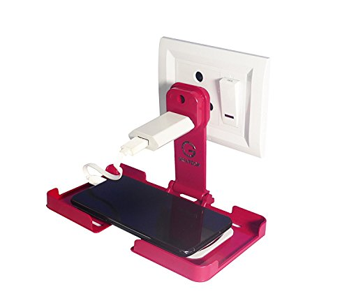 G GREATECH Power of dream Cases Charging Stand Wall Holder for Almost All Mobile Phones (Pink)