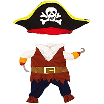Topsung Cool Caribbean Pirate Pet Costume for Dogs/Cats, Medium