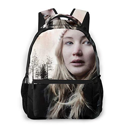 NA Black Hiking Backpack Comfortable Casual Backpack Winter's Bone Cool Backpacks One Size