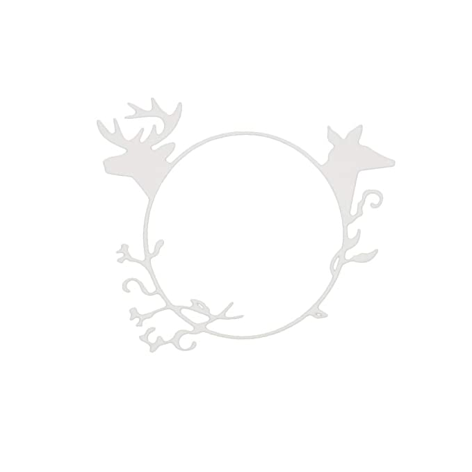 FEIDA - Troqueles de corte, anillo de reno de Navidad, troqueles de corte de metal, álbumes de recortes, tarjetas de felicitación, marco de plantilla, ...