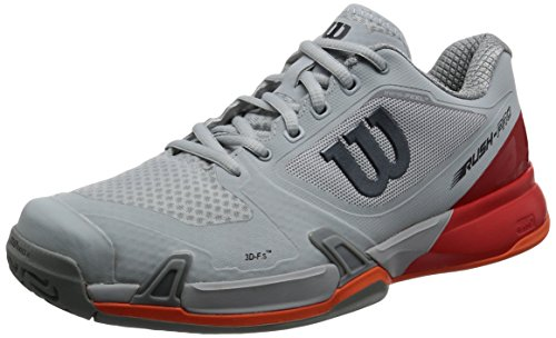 Wilson Rush Pro 2.5 Tennis Shoes Mens - Pearl Blue/Fiery Red/Flame 9.5 D(M) US
