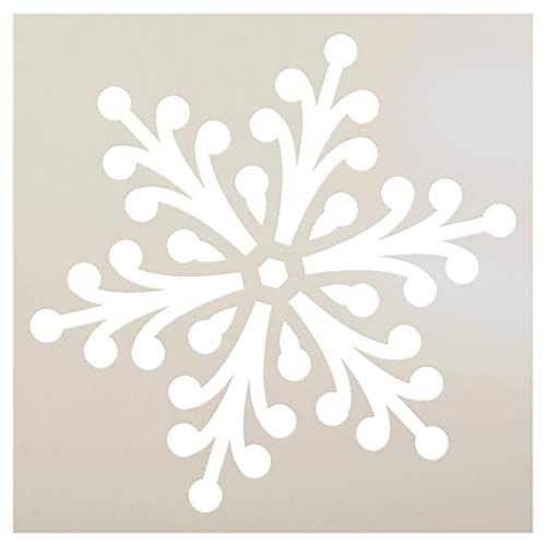 Snowflake Stencil by StudioR12 | Jeweled Winter Art - Reusable Mylar Template | Painting, Chalk, Mixed Media | Use for Journaling, DIY Home Decor - STCL951 SELECT SIZE (6 x 6)