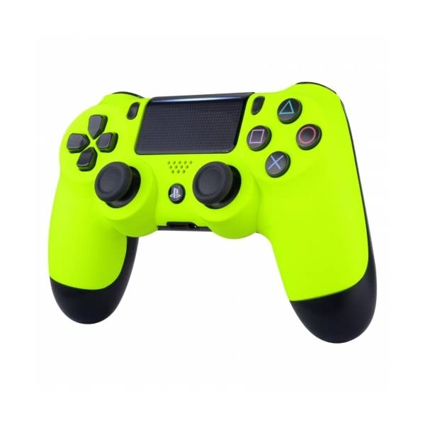 Neon Yellow Playstation 4 PS4 Dual Shock 4 Wireless Custom Controller 3