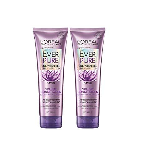 LOreal Paris Hair Care Ever Pure Sulfate Free Volume Conditioner, 2 Count
