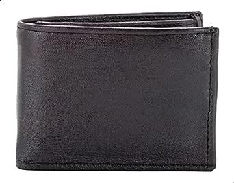 محفظة جلد سادة بطبقتين للرجال من سكوادرا - بني