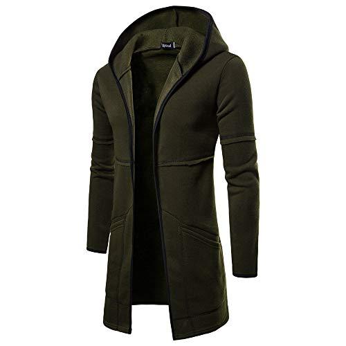 Vert Top Homme Veste Casual Hiver À Capuche Chaud Trench Shirt Manteau Long coat Slim Aimee7 6RFqw4