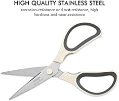 Stainless Steel Kitchen Shears Heavy Duty for Food Poultry Fish /& Flower Meat LIVINGO 8 Wheat Straw Kitchen Scissors