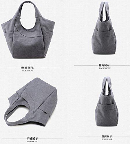 Travel Handbag Ladies Comfortable capacity Large Casual Bag Brown Handbag Backpack Shoulder Fashion FLHT Canvas Student Messenger Mom Bag Ex7wHCfWEq