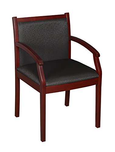 Black Fabric Mahogany Frame - Regency Regent Guest Chair, Mahogany/Black