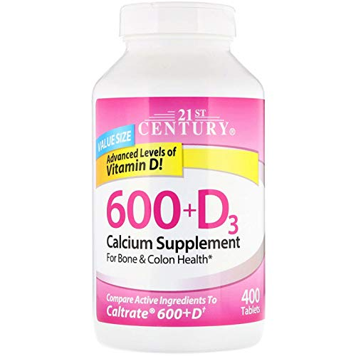 Calcium Supplement 600 Vitamin D3 Bone Health 400 Caplets