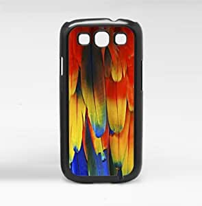 Red Parrot Feathers Hard Snap On Case (Galaxy S3 III)