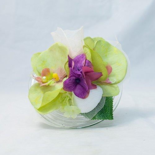 Rundes Tischgesteck Mit 2 Orchideen Hortensien Tischdeko Mit