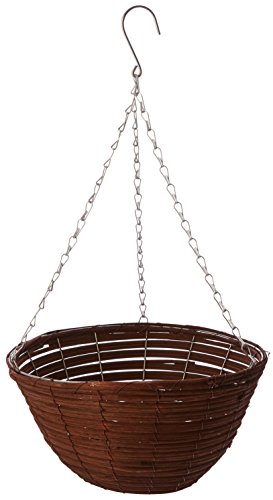 Gardman R338 Brown Rattan Hanging Basket, 14