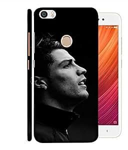 ColorKing Football Ronaldo Portugal 01 Black shell case cover for Xiaomi Redmi Y1 / Note 5A / Note 5A Prime