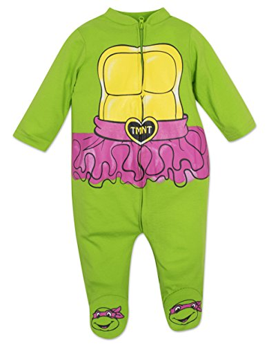 (Baby Girls' Ninja Turtles Zip-up Coverall with Footies (3-6)