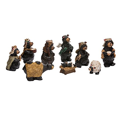 Kurt Adler Resin Nativity Bear, 4-Inch, Set of -