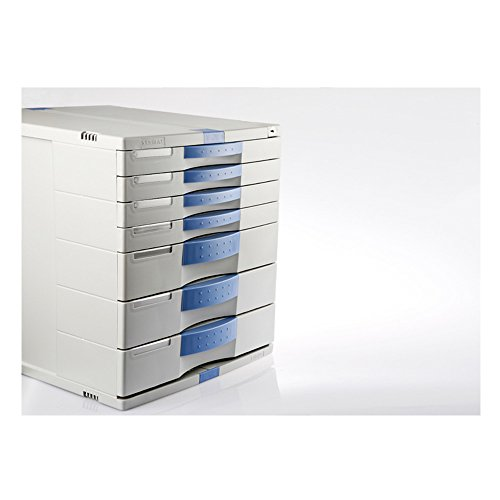 7 Drawers Max Flat File Cabinet Index Key Lock Office Life Small & Large Drawers MK070 by ARTBOX