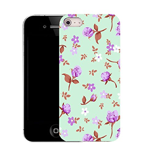 Mobile Case Mate IPhone 4 clip on Silicone Coque couverture case cover Pare-chocs + STYLET - pretty floriated pattern (SILICON)