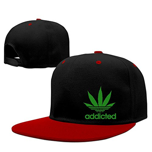 Addicted-Cannabis-Weed-Leaf-Caps-Mans-Hip-Hop-Vintage-Snapbacks-Graphic-Print-Cool-Snapback-Hat