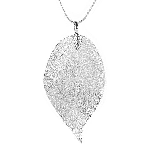 Special Hollow Leaves Sweater Pendant Decor Necklace,Ladies Long Chain Jewelry,Elegant Neck Decor