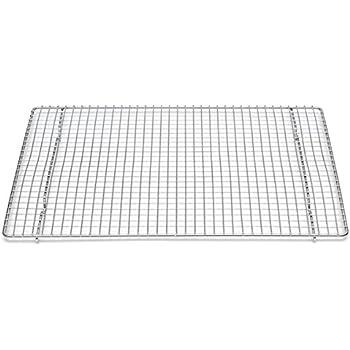 professional cross wire cooling rack half sheet pan grate 16 1 2 x 12 drip. Black Bedroom Furniture Sets. Home Design Ideas