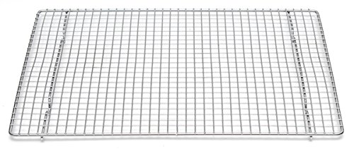 Professional Cross Wire Cooling Rack Half Sheet Pan Grate - 16-1/2'' x 12'' Drip Screen 2 Pack
