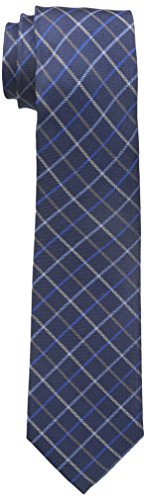 Dockers Men's Market Street Grid 100% Silk Tie, Navy, One Size